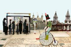 Lianne Harrison  Cycling In London Collage