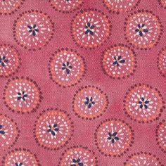 Rebecca Atwood - Dotted Floral Fabric in Ruby