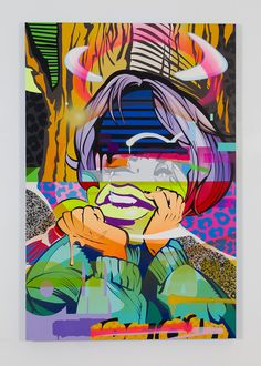 """POSE, """"Wipeout 2,"""" 2013, acrylic and spray paint on clayboard panel"""