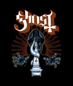 Ghost tour shirt design, Argentina (c) all rights reserved. Concept by Ghost, artwork by M.Frisk death and destruction. Band Ghost, Ghost Bc, Ghost Album, Sheri Moon Zombie, Ghost And Ghouls, Ghost Pictures, Ghost Tour, Heavy Metal Bands, Festival Posters