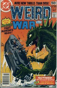 Cover for Weird War Tales (DC, 1971 series) Comic Books For Sale, Dc Comic Books, Vintage Comic Books, Vintage Comics, Comic Book Covers, Ec Comics, Horror Comics, Frank Miller Art, Giant Monster Movies