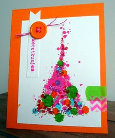 BloGbloM: Funky kerstkaartje Christmas 2017, Christmas Time, Christmas Crafts, Christmas Ornaments, Unique Cards, Card Sketches, Jingle Bells, Xmas Cards, Craft Activities