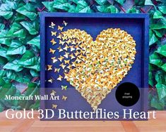 Items similar to Butterfly Wall Art , Purple Ombre, Alphabet Letter,Nursery Art, Baby Girl on Etsy Heart Wall Art, 3d Wall Art, Heart Frame, Wall Art Decor, Butterfly Gold, Butterfly Wall Art, Paper Butterflies, Butterfly Decorations, Paper Artwork