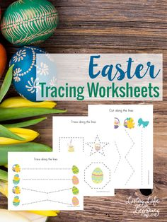 Have your child practice their pre-writing skills with these Easter Tracing Worksheets
