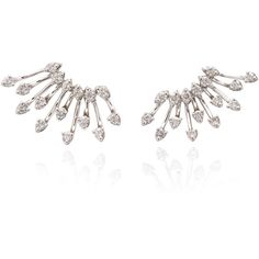 M'O Exclusive Starburst Diamond Earrings | Moda Operandi ($2,460) ❤ liked on Polyvore featuring jewelry, earrings, sparkling jewellery, sparkly stud earrings, sparkly earrings, diamond earring jewelry and diamond jewelry