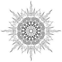 Art Deco Fire Water Mandala By Gabe Mcginn Skillshare