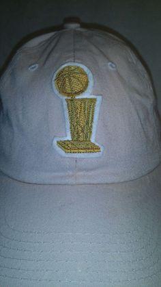 8c1eedd71b1 Vintage 2005 NBA Finals Strapback Hat Adjustable Khaki Hidden Message Under  Brim  NBA