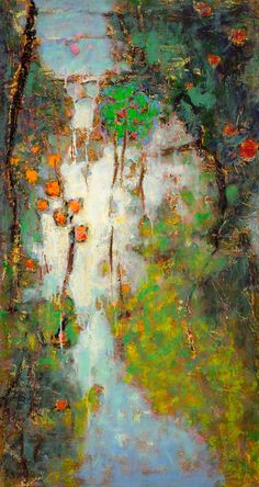 Rick Stevens Dream With Me | oil on canvas | 28 x 15"