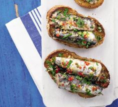 Spanish sardines on toast- yum, love those sardines!