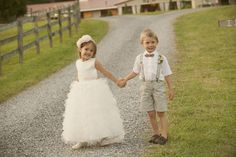 flower girl & ring bearer. Now tie and suspenders