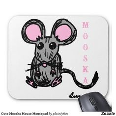 Cute Mooska Mouse Mousepad
