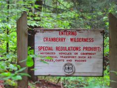 Cranberry wilderness photo credit Tammie Pursley