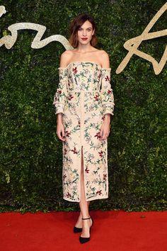 Alexa Chung at the British Fashion Awards 2015