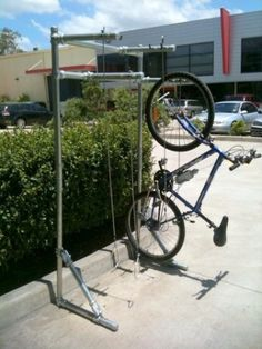 Vertical Compact Free Standing Bicycle Rack, Bike Racks, Bicycle Parking