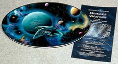 Vintage 1996 Star Trek Space, The Final Frontier Plate Collection: Distant Worlds Limited Edition Oval Plate from the Hamilton Collection with COA (ref 36-2011)