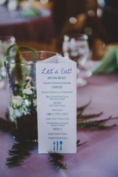 Table Tri-Folds | Kelly + Brandon | June 28, 2014 | Lake Leelanau, MI