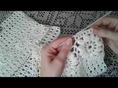 """Пуловер """"Цветочный"""". Часть 3/Pullover Crochet - YouTube"""