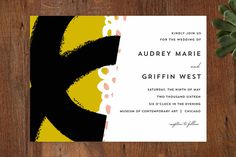 the modernists Wedding Invitations by Angela Marzuki at minted.com
