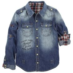 Pepe Jeans Shirts and Blouses : Children Shirts and Blouses Boys Shirt And Pant, Baby Boy Shirts, Boys T Shirts, Blue Shirt With Jeans, Denim Shirt, Chambray, Pepe Jeans Shirts, Stylish Boys, Boy Outfits