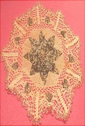 Beaded doily for sale at http://barbspencerdolls.com