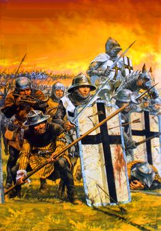 Teutonic troops at the Battle of Grunwalde