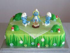 Smurfs Picnic cake