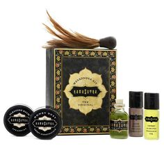 Dont let their size fool you these luscious little luxuries pack a passionate punch. Packaged in a sleek new box this gift set is sized for a pocket purse or ov