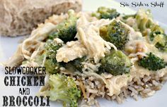 Slow Cooker Chicken and Broccoli over Rice | Six Sisters' Stuff