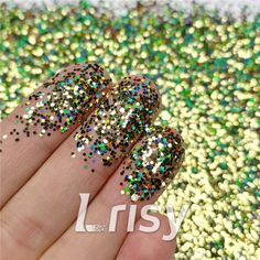 These cosmetic grade holographic glitter are ultra-thin and have a chameleon like effect in that their colors seem to change as you look at them from at different angles and in background color. Selling bulk poly glitter, and offer wholesale. Bulk Glitter, Glitter Slime, Loose Glitter, Holographic Glitter, Glitter Makeup, Green Glitter, Cosmetic Grade Glitter, Hair Decorations, Hexagon Shape