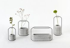 Vessels with potential for beautiful displays of food - Weight Vase collection by Decha Archjananun