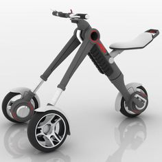 the VEU - The VEU is an interesting electric vehicle that looks nothing like a typical fold-up bicycle or tricycle. The Vehiculo Electrico Unipersonal, Perso. Electric Tricycle, Electric Cars, Electric Vehicle, Bike Maintenance Stand, Foldable Electric Bike, E Scooter, Cool Gadgets To Buy, Cargo Bike, Futuristic Cars
