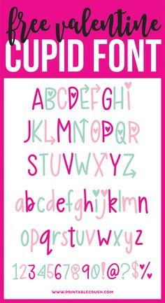Free Valentine Cupid Font