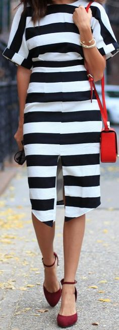 Little Striped Dress in NYC