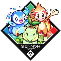 Charmander, Bulbasaur and Squirtle. I owned Red as a kid, my brother had Blue ^^ Here are some more starter pokemon from other regions: