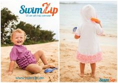 Have you heard of SwimZip? It's an amazing line of sun protective clothing for kids (and adults too) that is beyond cute and stylish and has the one thing that no rash guard has which makes our lives as parents SOOOO much easier for getting it on and off - check out my post to see what that is http://babylishadvice.com/?p=2319