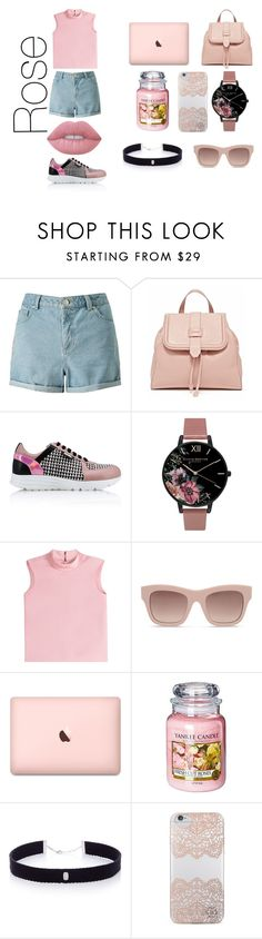 """""""Rose"""" by glcot on Polyvore featuring Miss Selfridge, Karl Lagerfeld, Olivia Burton, RED Valentino, STELLA McCARTNEY, Yankee Candle, AS29, Nanette Lepore e Lime Crime"""