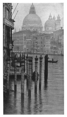 by Alvin Langdon Coburn - Santa Maria Della Salute, Venice, 1908 History Of Photography, Vintage Photography, White Photography, Dramatic Photography, Italy Honeymoon, Italy Art, Italy Fashion, Famous Photographers, Places In Italy