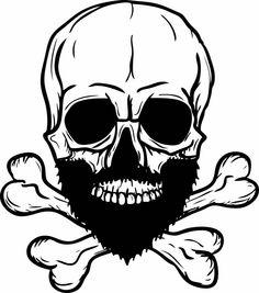 Beard Skull Cross Bones