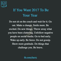 2017 is a fresh new start and it'll be MY year!