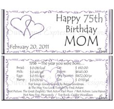 Birthday Adult Year You Were Born Candy Bar By SweetExpressive 650