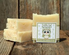 Green Tea Walnut Soap by BubbleOwlSoap on Etsy