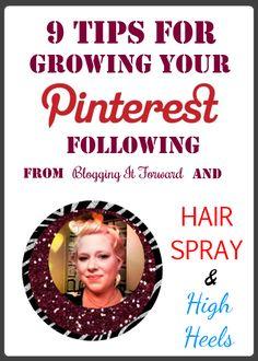 9 Tips for Growing Your Pinterest Following ✯ www.pinterest.com/wholoves/seo-social ✯ #seo #socialmedia #pinterest