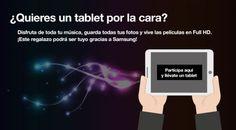 ¿Quieres un tablet por la cara?