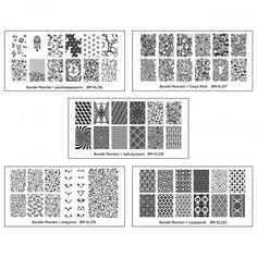 5pc Blogger Collaboration Nail Art Polish Stamping Plates - Set 4 from Rainbow Connection