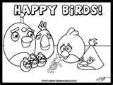 Happy Birds coloring page - finally find a pig they like!