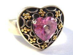 Silver ring with pink topaz (Stříbrný prsten s růžovým topazem) #ring   #rings   #topaz   #silver