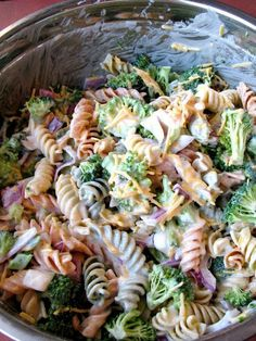 Broccoli Cheddar Pasta Salad (Walmart Copycat Recipe) It's like my broccoli salad but with pasta