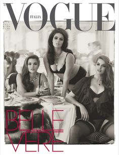 Italian Vogue's issue featuring nothing but curvier models.