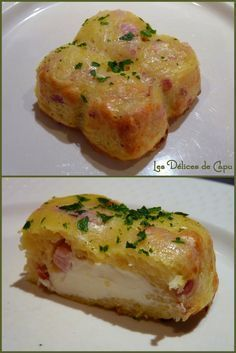 Small potato cake, bacon and Kiri, a gourmet dish and easy to prepare for (large) children Cooking Time, Cooking Recipes, Easy Recipes, Dinner Recipes, Kids Meals, Easy Meals, Food Porn, Potato Cakes, Comfort Food