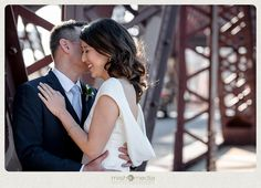 Bride & Groom at Cermak Bridge in Chinatown // chicago photo locations, wedding party photos, engagement photos, urban   Sweetchic Events, Chicago Wedding Planner, Chicago Wedding, Lacuna Lofts Wedding, Loft Wedding, Rustic Wedding